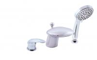 Змішувач-налив для ванни 3-х позиційний, врізний